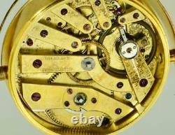 Antique Impériale Russe Maçonnique 24k Horloge D'argent Doré Par Vacheron & Constantin