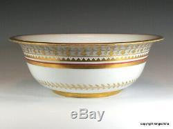 Antique Impériale Russe Nicolas II Bowl Plaque St Petersburg Porcelaine