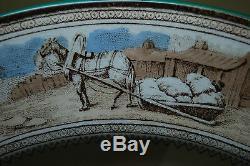 Antique Impériale Russe Royal De Victoria Porcelaine Plaque Céramique Old Wedgwood
