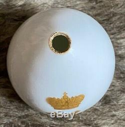 Antique Impériale Russe Royale De Porcelaine Aux Oeufs De Pâques Tsarévitch Alexei Romanov