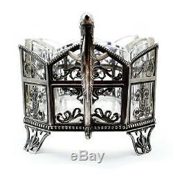 Antique Impériale Russe Vermeil Présentation Faberge Era Centerpiece Panier
