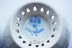 Antique Kuznetsov Impériale Russe Peinte À La Main En Porcelaine Tasse De Thé Et Soucoupe