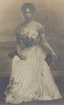 Antique Photo De Grande-duchesse Victoria Melita De La Russie Impériale En Perles