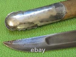 Antique Russe Imperial Cosaque Argent Grand Couteau Kinjal Dagger 1870