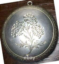 Antique Russe Imperial Enamel Sterling Silver 84 Jewelry Pendentif Box Pill Box