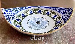 Antique Russe Imperial Porcelain Kornilov Kornilow Brothers Curved Dish