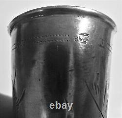 Antique Russe Imperial Silver 84 Ensemble De 3 Identiques Belles Coupes Kiddush