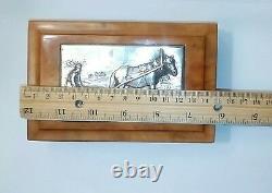 Antique Russe Impériale 84 Silver & Wood Box Ivan Khlebnikov