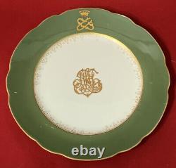 Antique Russe Usine De Plaques Impériales Kuznetsov Du Service Du Grand Duc