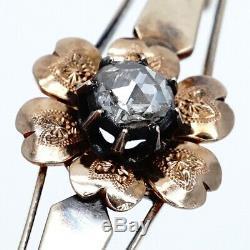 Antique Russian Imperial Diamant 56 Or 14k Argent Broche Broche Bijoux Pendentif