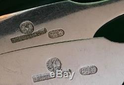Antique Russian Imperial Silver Set De 12 Cuillères Par Ovchinnikov Dans Boîte D'origine