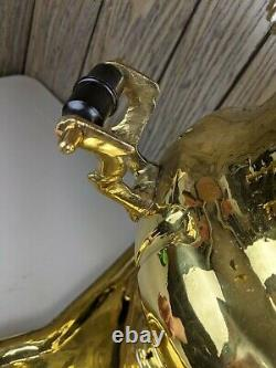 Antique Salisheva De Tula Imperial Russian Brass Samovar 1904 Timbre Avec Plateau