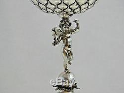Antique Tallinn Estonie Argent Figurale Angel Cup Goblet Baltes Impériale Russe