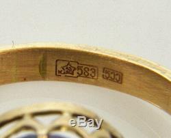 Antique Victorienne Impériale Russe Gold Rose 10,5 Ct Améthyste Taille 8