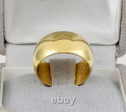 Antique Wide Russian Imperial 14ct Or Bague De Mariage / Band 56 Zolotnik Mark