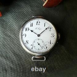 Antiquité Rare Paul Buhre Années 1900 Ww I 1 Swiss Imperial Russian Wrist Watch