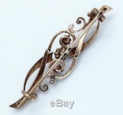 Art Antique Impériale Russe Nouveau Deco 56 Or Opale Perle Broche Pendentif