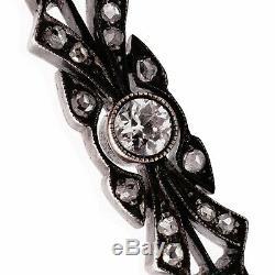 Art Antique Impériale Russe Nouveau Deco D'or Mine De Diamants Broche Pendentif