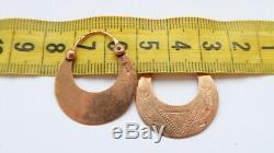 Boucles D'oreilles De Bijoux De Rares Impériale Russe Antique Or Rose 56 / 14k