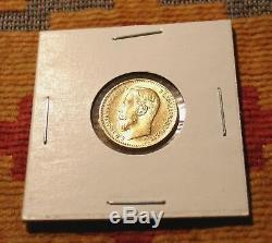 Clés Année 1909 5 Roubles Russe Tzar Antique Gold Coin Imperial Antique Russie