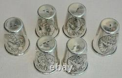 Coupe De Russie Royal Art Argent Soviétique Vodka Shots Goblet Calice Kovsh Bowl Egg