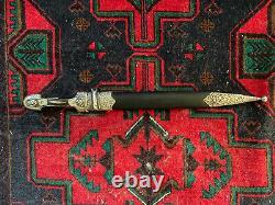 Dague Antique Impériale Russe De Kindjal D'argent
