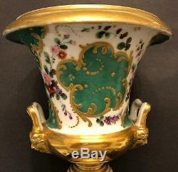 Deux Anciens Vases En Porcelaine Impériale Russe Par Popov Gorbunovo C1870