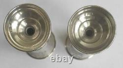 Deux Antiques Imperial Russian Sterling Silver 84 Etched Goblet Wine Cups Kiddush