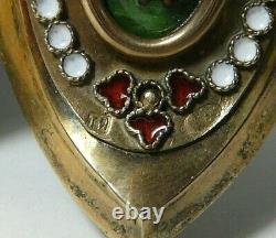 Easter Egg Box Émail Gilding 84 Argent Imperial Russian Moscou 1910