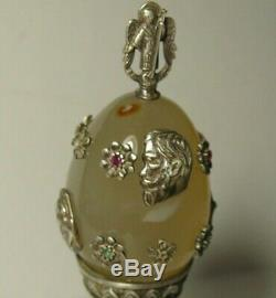 Egg Argent 84 Diamants Nicolas II Impériale Russe 1901
