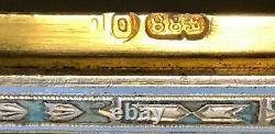Étui Antique De Cigarette D'argent Impérial Russe D'émail (ovchinnikov)