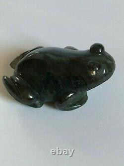 Faberge Antique Imperial Russian Miniature Frog Sculpture With Diamond Eyes