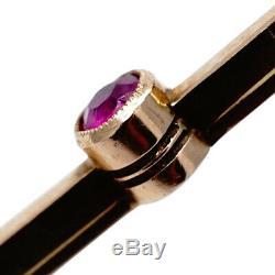 Faberge Broche Imperial Russian Gold 14k Bijoux Rare Antique Pin Ruby Perle Ru