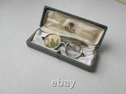 Faberge Design Imperial Russian 84 Silver Photo Cadre Sous Forme De Lunettes
