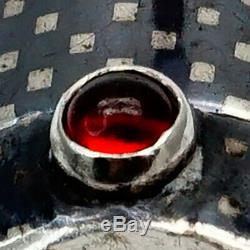 Faberge Design K Impériale Russe 84 Niello Argent 88 Rouge À Lèvres Pendentif Ruby Kf