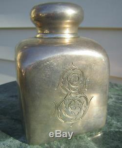 Fantastique Antique Impériale Russe Argent Et Or Lavé Tea Caddy. Big, Lourd