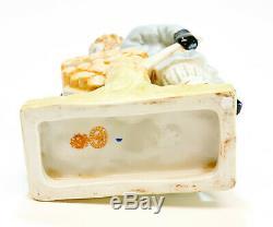 Gardner Russe Imperial Bisque Porcelaine Figurine Homme Avec Brouette