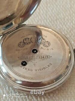 H. Moser Qte Boutte Antique Imperial Russian Silver Poket Watch 57 MM De Travail
