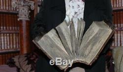 Illuminé Antique Immense Imperial Bible Russie Livre Eglise Eye1641 Moscou