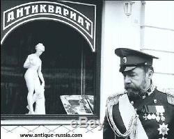 Immense Impériale Russe Argent 84 Email Grande Cuillère Ruckert Pour Antiquités Fabergé