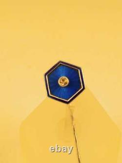 Imperial Antique Russe Faberge Guilloche Enamel Argent 88 K