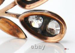 Imperial Géorgien Gherries Boucles D'oreilles Russe 56 / 14k Or 2,25 Diamants Ct / 7gr