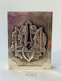 Impérial Russe Antique Argent Sterling 84 Matchstick Case Bogdan Khmelnitsky