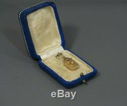 Imperial Russian 56 Or Médaillon Pendentif Ruby Perle Sapphire Photo Witht Box