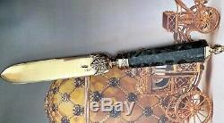 Imperial Russian 84 Argent Grande Ouvre-lettres Marqué Karl Fabergé