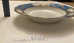 Imperial Russian Porcelain Dinner Bowl De 1901 Alexandrinsky Turquoise Service
