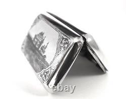 Imperial Russian Silver Niello Case Egorov Aleksandr Sergeev Daté De 1895