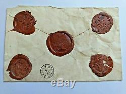 Imperial Tsar Russe Libre Signé Cire Autograph Royale Document Sceau Arms Seal