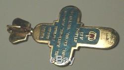 Impériale Russe 56 (14k, 585) Croix D'or Solide P. Sazikov S. Peterburg 1889