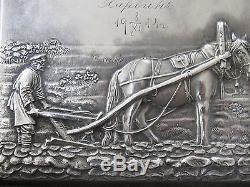 Impériale Russe Argent 84 Rare Plaque Par Ivan Khlebnikov